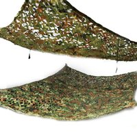 Wholesale 2x3m Camouflage Net - 2X3M Woodland Camouflage Net Toldo Camo Netting Camping Beach Military Hunting Large Shelter Carpas Sunshade Awning Tent Outdoor