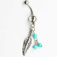 Wholesale Dream Body - aqua. color 0479 Nice belly ring nice dream catcher style belly ring with piercing body jewlery navel belly ring body jewelry