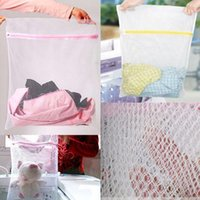 Wholesale Laundry Net Fabric - Foldable Clothes Wash Laundry Lingerie Net Wash Bag Home Wash Saver Mesh Net Household Cleaning Tools