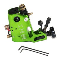 Wholesale Green Tattoo Machine Stigma - Wholesale-High Quality Clip Cord And Stigma Hyper V3 Tattoo Machine Green Color Rotary Gun For Shader And Liner Free Shipping TM-570B