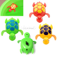 Vente en gros- Nouveaux enfants Baby Child Wind Up Natation Animal Floating Turtle Pool Bath Time Toy -B116