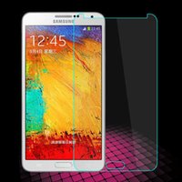 Wholesale A5 Gift Box - Tempered glass 0.4mm phone screen coverage mobile phone protective film for Samsung S6 S5 S4 A3 A5 A7 Note3 Note4 note5 with gift box