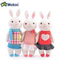 Wholesale Tiramisu Cute - Wholesale- Metoo Mini Tiramisu Bunny Cute Plush Toys Rabbit Dolls Birthday Party Decoration Girl's Fashion Gift For Baby Kids 35*13*18cm