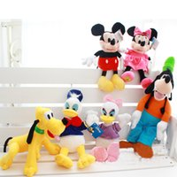 Wholesale Wholesale Minnie Mouse Toys - Wholesale- 28cm Kawaii Mickey Mouse and Minnie Mouse Donald Duck and Daisy Duck Plush Toys Mickey and Minnie Plush