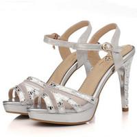 Wholesale Free Stylish Heel - 2017 Latest Styles Women Fashion Sandals Lady Shoes Sexy Stylish Designs Luxury Workmanship 2 Colors Free Shipping