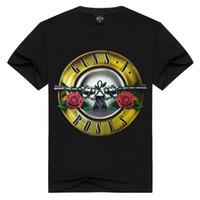 Wholesale Motion Gun - Personality Originality Motion Short Sleeve Men's T-shirt Guns And Rose Band Men's Wear 3D T-shirt