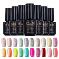 Wholesale 3d Nails Candy - Wholesale-ROSALIND Long Lasting Bling Candy Color Gel Polish UV Nail Gel Polish Dark Purple Color Gel Nail Polish 3D Glitter Nail Enamel