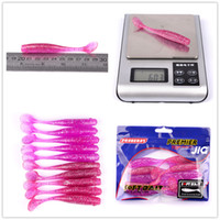 Wholesale Wholesale Plastic Fishing Worms - Hot Pink Plastic Fish Artificial Soft Worms Crank Bait 10colors 9cm 6g Silicon Rubber Freshwater fishing lures