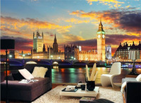 London Night City Mural Scenery Big Ben Fond d'écran mural mural pour Berdroom Sofa Background 3D Murals Fresco 3d Wall Sticker