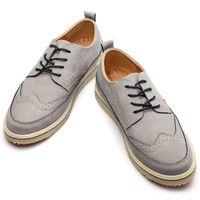 Wholesale Patent Brogue Shoes - Retro Men Leather Shoes Casual Brogue Men's Flats Genuine Leather Shoes For Men Luxury Brand Big Size Oxfords Man Footwear
