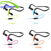 Wholesale Mp3 Sport Water - MERRISPORT Stereo Sports Water-resistant Sweat-proof Resistant Active Sport Earphones Headphones With Microphone For IOS Android Smartphone