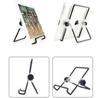 taşınabilir masaüstü standı toptan satış-YENI Masaüstü Çok açılı kaymaz Standı Tutucu ve iPad Için Taşınabilir Katlanabilir Ayarlanabilir Katlanır Çelik Standı Tutucu 2 3 4 Hava Mini