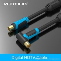 Vention 90 Grados Macho a F tipo Macho Coaxial TV Satellite Antenna Cable