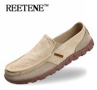Wholesale Wholesale Shoes Big Sizes Men - Big Size 39-47 Men Canvas Shoes, Ultralight Men Casual Shoes, Top Quality Comfortable Slip-On Lazy Shoes Men