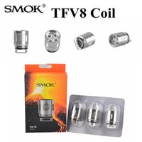 Wholesale Mini Cloud - 100%Authentic Smok TFV8 Coil Head V8-T8 V8-T6 V8-Q4 V8 RBA Replacement Coils Fit TFV8 Cloud Beast Tank Vs Aspire Nautilus Mini Coils
