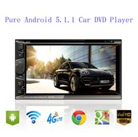 Wholesale 6 inches universal din Android Car DVD player GPS Wifi Bluetooth Radio Quad Core Capacitive Touch Screen car pc aduio video1080P