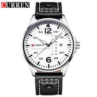 наручные часы купить оптовых-новая бесплатная доставка CURREN 8224 двойной календарь кварцевые часы горячие, нейтральные часы водонепроницаемый календарь часы