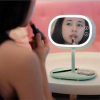neuer spiegeltisch großhandel-Neue kreative LED-Lampen-Verfassungs-Spiegel-Nachtlichter Spiegellampe Smart Home Leuchten Tischlampe für Geburtstag Weihnachtsgeschenk