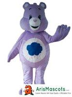 mascotes de urso adulto venda por atacado-Adultos Roxo Urso traje da mascote deguisement mascotte Animal mascotes trajes de fantasias publicidade mascotes vestido de festa de carnaval