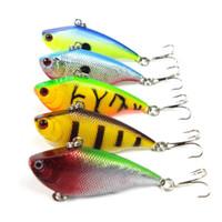 ingrosso trota di plastica-5.5cm 7.5g Esche da pesca di alta qualità 5 colori Minnow VIB Crank Duro esche da pesca in plastica Vibe Vibrazione Bass Trout Fishing Tackles