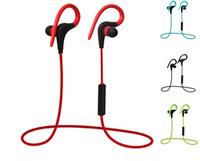 erişte kulaklık kablosu toptan satış-Yeni Moda Q10 Kablosuz Bluetooth 4.1 Kulaklık Stereo Spor Kulaklık Mikrofon Ile Noodle Kablo Kulak Kanca Kulaklık Spor Müzik Için Fitness