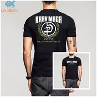 Wholesale Martial Arts T Shirts - Fashion Mens Krav Maga Israel Combat System Self Defense IDF MMA Martial Arts T-shirt Funny Print Cotton Short Sleeve Shirt Tee
