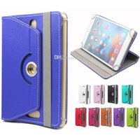 Wholesale Andriod Accessories - Ipad case Universal pad protector case fashion 360 Degree Rotation PU Leather stand case for Andriod pad DHL Free Shipping Without Package