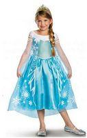 Wholesale Europeans Summer Dresses - SALE ! Big discounts! 60%off!IN STOCK!hot sale!Costumes!The princess dress!ELSA ANNA set!DROP SHIPPING!high quality!1 SET.DM