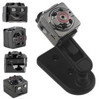 Wholesale Wholesale Small Video Camera - HD 1080P Sport Spy Mini Camera SQ8 Mini DV Voice Video Recorder Infrared Night Vision 720P Digital Small Cam Hidden Camcorder