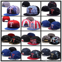 sports in texas - Texas Rangers Snapback Hats Embroidery Logo MLB Men s Sports Adjustable Baseball Caps Hip Hop Flat Visor Send In Box