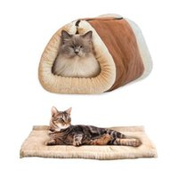 Wholesale Dog Houses For Kennels - Soft Warm Dog Cat Mat House Sofa Foldable Cats Bed Pad House Winter Cave Kennel Nest For Small Dogs Puppy Free Shipping ZA2384