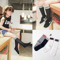 Wholesale Cheap Cotton Clothing For Girls - Wholesale cheap New arrived Stripe Children Knit Knee High Socks Summer boys girls student socks Baby Socks For Kids Toddler Clothes A856