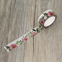 Wholesale decorative stickers scrapbooking - Wholesale- 2016 Camellia Flower Washi Tape Floral Masking Tapes Decorative Stickers Diary Deco Scrapbooking Sticker