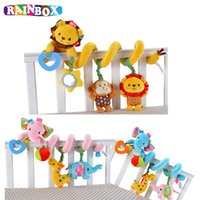 Wholesale activity spiral - Wholesale- Cute Infant Babyplay Baby Toys Activity Spiral Bed & Stroller Toy Set Hanging Bell Crib Rattle Toys For Baby zl284