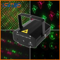 Wholesale Mini Laser Multi Color - Portable Laser Stage Lights (Red + Green Color) Multi All Sky Star Lighting Mini DJ Laser For Christmas Party Home Wedding Club Projector