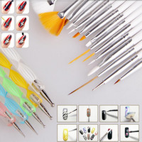 Wholesale Pincel Art - Wholesale- 2016 Nail Art Design Painting Tool 20PCS Pen Polish Brush Set Kit Professional Nail Brushes Styling Nail Tools pincel de unha