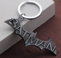 Wholesale Bat Rings - Free Shippin The Superhero Batman Logo Keychain Pendant Keyring Hot Comic Batman Superman Animal Bat Charms Key Chain Ring Holder For Fans