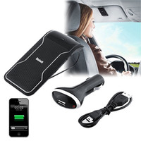 Wholesale Visor Clip Hands Free - Wireless Bluetooth Handsfree Car Kit Speakerphone Sun Visor Clip 10m Distance For iPhone Smartphones with Car Charger Hands Free