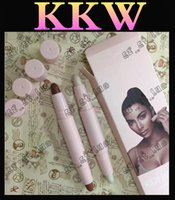 Wholesale Toner Powder Wholesalers - 3PCS Factory Outlet 2017 latest KKW double-headed tube powder head Kelly 16 toner spot concealer to enhance the long-lasting solid color
