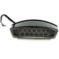 12v geführt atv großhandel-LED Bremslicht Kennzeichenleuchte Rücklicht mit Halter Anzug für Motorrad ATV SUVs Electrombile IZTOSS D618BK 12V 10.5W