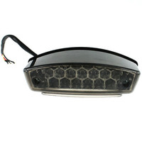 freno de moto al por mayor-Luz de freno LED Placa de matrícula Luz trasera con soporte Traje para motos ATV SUVs Electrombile IZTOSS D618BK 12V 10.5W