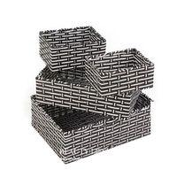 Wholesale Decorative Wood Storage Boxes - Handmade Wicker Storage Basket Books Crafts Cosmetic Box Household Desktop Sundries Furnishing Decorative Reto Organizer no56