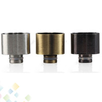 Wholesale Large Brass - New 8 Shape Wide Bore Drip tips 2015 Large Hole E Cigarette Drip Tips SS Brass Black 3 Colors DHL Free