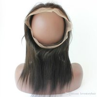 bakire peru saç demetleri dantel ön dantel toptan satış-Saç Demetleri Ile 360 Dantel Frontal Düz Brezilyalı Perulu Hint Malezya Virgin İnsan Saç Kapatma Doğal Renk Frontal Örgüleri