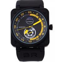 relógios mecânicos masculinos venda por atacado-Atacado-Men's Luxury Sport Aço Inoxidável Mecânico Automático Clássico BR03-92 Borracha Brown Leather Strap BR BR01-92 Assista
