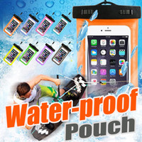 Wholesale Huawei S7 Screen - Touch Screen Waterproof Neck Pouch PVC Universal Clear Diving Bag Cover Case For Android Huawei iPhone X 8 7 Plus 6 6S Samsung S8 S7 edge S6