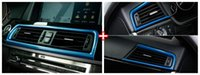 Personalized Sticker Internal Color Change Chrome air conditioning vent frame cover trim interior sequins air outlet panel decorative strip 3D sticker for BMW f10 5 series