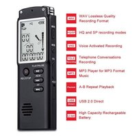 Großhandels-T60 Fachmann-8GB Zeit-Anzeigen-Aufnahme-Digital-Sprach- / Audiorecorder-MP3-Player-Telefonaufnahme Hidden Voice Recorder