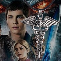 Wholesale necklaces scented pendant resale online - 12pcs Percy Jackson Inspired Scent Necklace jewelry silver antique jewelry