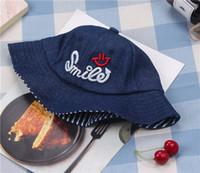 geniş şapkalı golf şapkaları kadınlar toptan satış-İlkbahar ve sonbahar mevsiminde, erkekler ve kadınlar, geniş siperlik şapkalar, çocuk modası pamuk kovboy havlusu şapkaları ve bebek güneşi